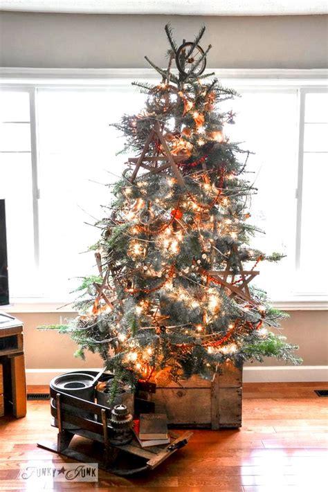 garland twigged  christmas tree   cratefunky junk
