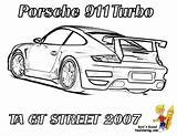 Coloring Pages Porsche Difficult 911 Hard Cars Race Street Gt Rear Printable Corvette Boys Gt3 Gusto Ta Mandala 2007 sketch template