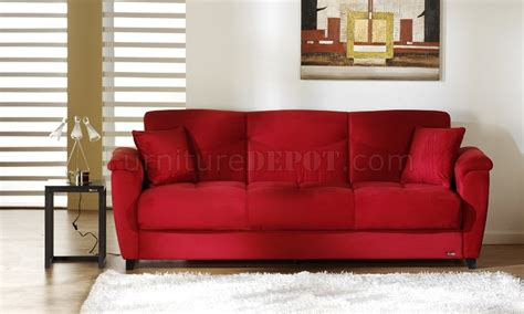 red sectional sleeper sofa red microfiber fabric living room storage sleeper sofa