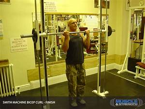 Smith Machine Bicep Curl  Video Exercise Guide  U0026 Tips