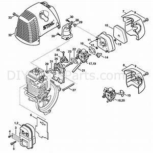 Stihl Fs 130 Brushcutter  Fs130r  Parts Diagram  Muffler