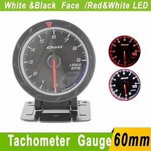 Defi Piece Auto : 60mm tachometer rpm gauge defi cr black face red white lighting car rpm meter tachomete auto ~ Medecine-chirurgie-esthetiques.com Avis de Voitures