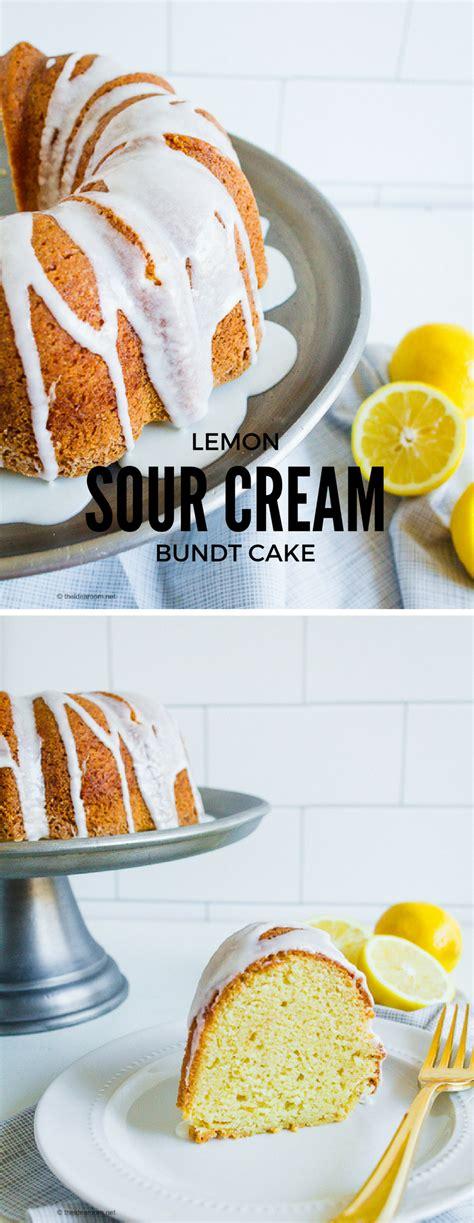 lemon pound cake recipe  sour cream
