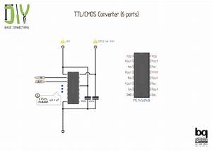esquemas de conexiones para tus proyectos de electronica With ttl cmos rs232 logic converter that is it convert ttl cmos to rs232 as