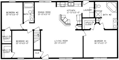 2 bedroom ranch house plans floor plan ranch style house ranch house plans from the
