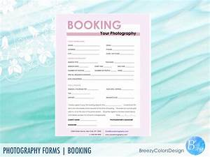 Session Booking Form  Photography Forms Printable