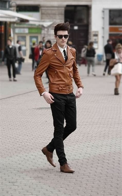 brown biker style 101 mens fashion style ideas to impress your
