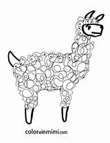 Llama Coloring Pages Spring Printable Peru Llamas Lama Drawing Alpaca Cartoon Kidsactivitiesblog Animal Printables Mama Series Precious Completely Guinea Pig sketch template