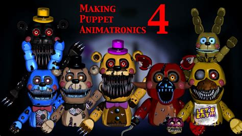 how to make video fan edits fnaf speed edit making puppet animatronics part 4 1 2