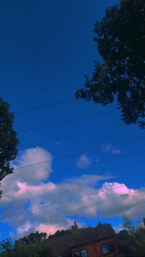 kid filter aesthetic alt bi sky clouds trees blue