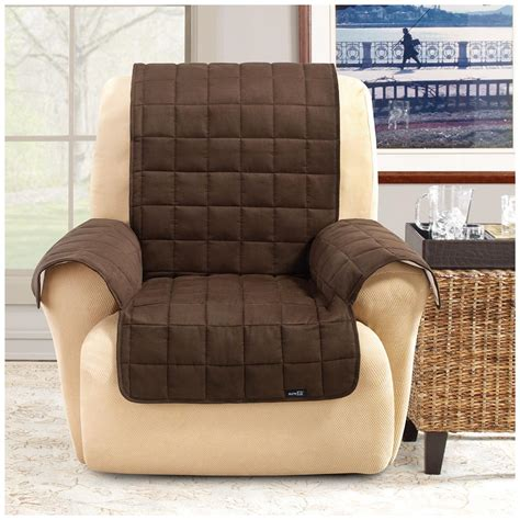 sure fit furniture covers sure fit waterproof quilted suede wing chair recliner