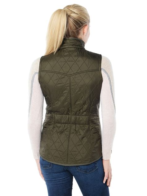 womens quilted vest barbour s cavalry gilet quilted vest style lqu0600