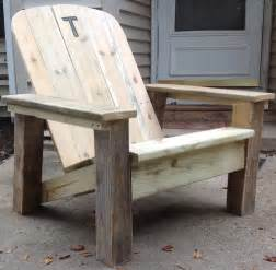 ana white reclaimed lumber adirondack chair diy projects