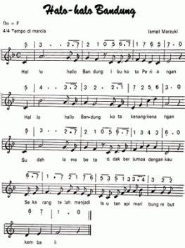 not piano 17 agustus lagu halo halo bandung not angka dan notbalok tunas63