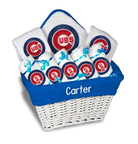 gifts for cubs fans personalized chicago cubs large gift basket mlb baby gift