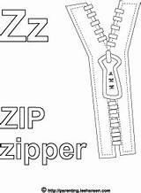 Coloring Pages Zippy Mutt Stuff Zipper Template Alphabet sketch template