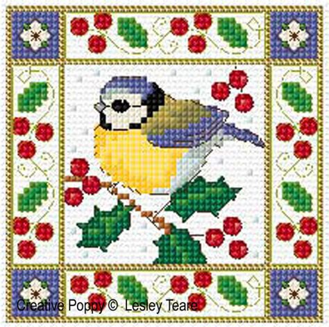 lesley teare designs christmas birds cards cross