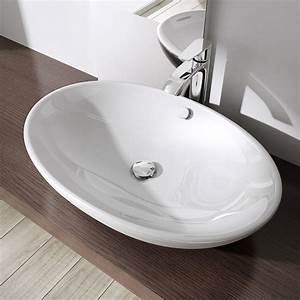 Waschbecken Oval Aufsatz : sogood keramik waschschale aufsatzwaschbecken waschtisch ca 63x42cm inkl nano ebay ~ Orissabook.com Haus und Dekorationen