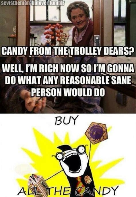 Harry Potter Trolley Meme - pin by allison on warning excessive fangirling may occur pinterest