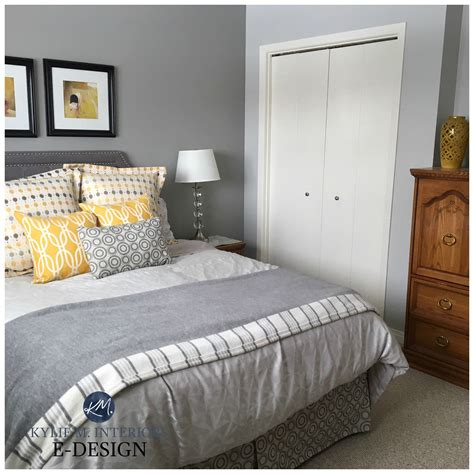 sherwin williams big chill and ellie gray feature wall best gray paint colours bedroom beige