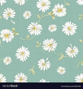 Pretty daisy seamless background Royalty Free Vector Image
