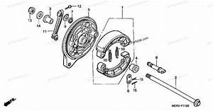 Honda Motorcycle 2002 Oem Parts Diagram For Rear Brake