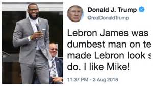 Trump Attacks LeBron James On Twitter And The Internet Isn ...