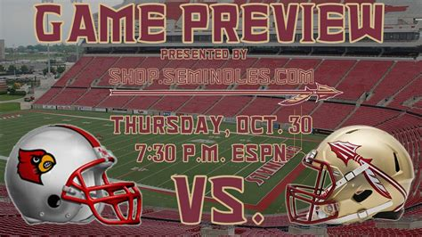 game preview florida state  louisville youtube