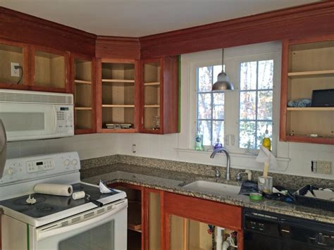 how to paint your kitchen cabinets before after