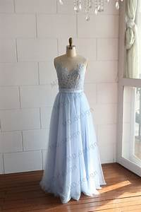 mint light blue sheer see through tulle lace wedding by With light blue lace wedding dress