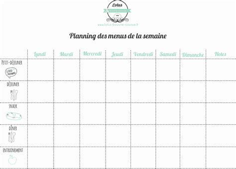 Nombreux sont ceux qui sont à la recherche de planning vierge pour faire leurs menus pour la semaine ! Tableau de semaine - young planneur