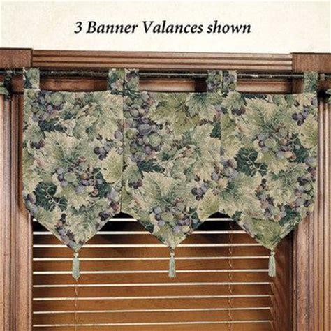 Grape Kitchen Curtains Valances by Labrusca Grapes Banner Valances A Window Fashion B