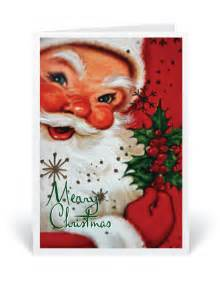 Retro 1950s Vintage Santa Christmas Cards
