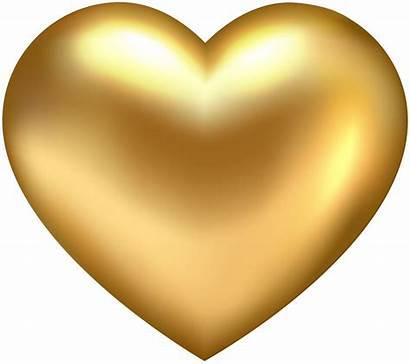 Heart Transparent Golden Clip Hearts Clipart Yopriceville