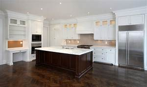 white kitchens with dark wood floors 2330