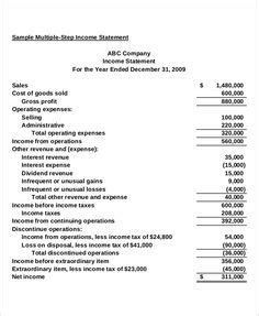 basic income statement   format small business