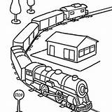 Coloring Train Pages Caboose Printable Drawings Template Clipartmag sketch template