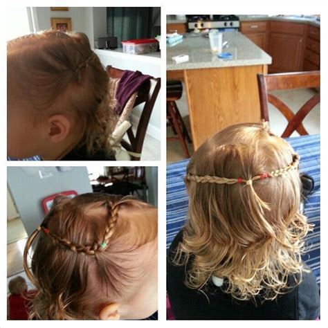 Bohemian braided hairstyle for short curly hair   Toddler