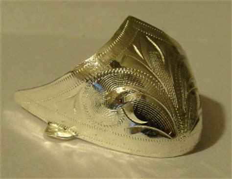 laser etched  toe silver cowboy boot tips