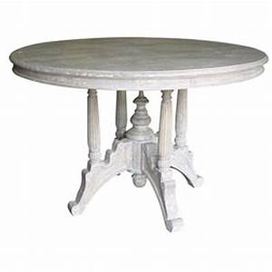 Cottage style raffles round dining table for Cottage dining table