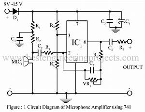 Microphone Amplifier Using Op