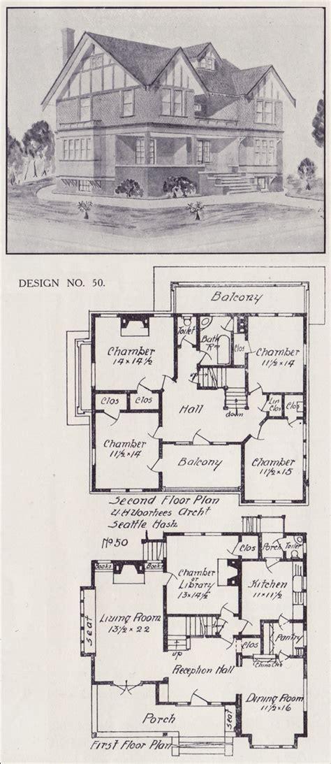 tudor house plan seattle vintage residential