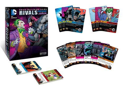 tcg deck building dc comics deck building rivals batman vs the joker