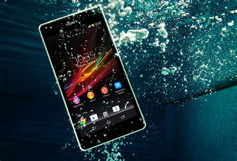 sony xperia zr smartphone doubles   underwater camera
