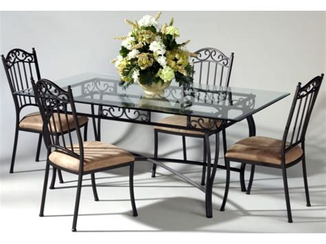 wrought iron and glass dining table wrought iron glass top dining table chair set antique