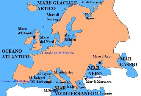 I Mari Bagnano L Europa I Mari Dell Europa