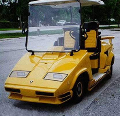 lamborghini countach  crazy golf carts complex