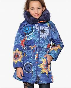 desigual girls winter coat nacal 17wgew05 blue With robe style desigual