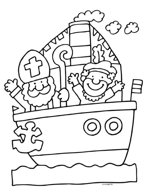 Kleurplaat Sinterklaas Peuters Vlaggetjes by 17 Best Images About Sinterklaas Kleurplaten On