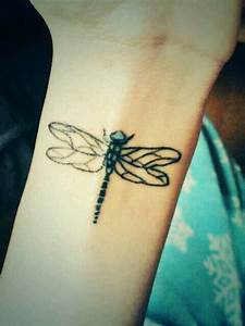 Dragonfly tattoo, Tattoos and body art and Small dragonfly ...